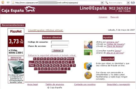 Phishing bancario que afecta a los clientes de caja espa a - Caja espana oficina virtual clientes ...
