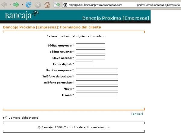 Banco online de bancaja for Inmobiliaria bancaja