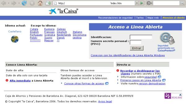 Phishing que suplanta el sitio web de la caixa for Seguro hogar la caixa