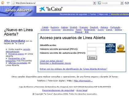 Web falsa y ataque fraudulento a gran for Seguro hogar la caixa