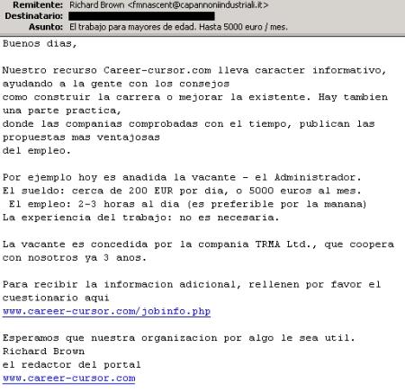 a32c9fa0d64 Web que simula ser Repsol YPF para realizar ofertas falsas de trabajo.
