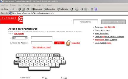Mas ataques phishing bancarios santander central hispano - Pisos santander central hispano ...